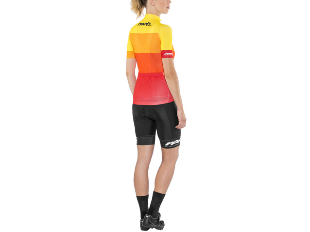 Red Cycling Products Colorblock Race Set Mujer, red-yellow